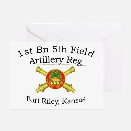 1st Bn 5th FA Greeting Cards (Pk of 10)