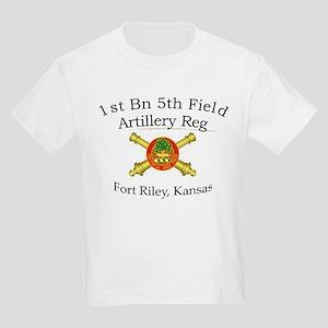 1st Bn 5th FA Kids Light T-Shirt
