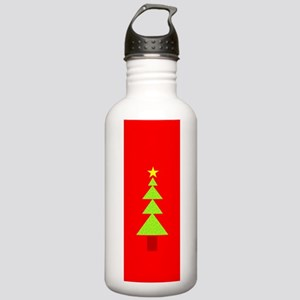 Festive Christmas Tree Stainless Water Bottle 1.0L