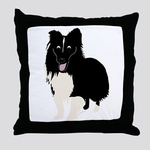 Shetland Sheepdog v4 Throw Pillow