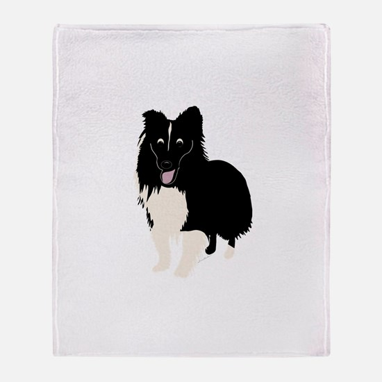 Shetland Sheepdog v4 Throw Blanket