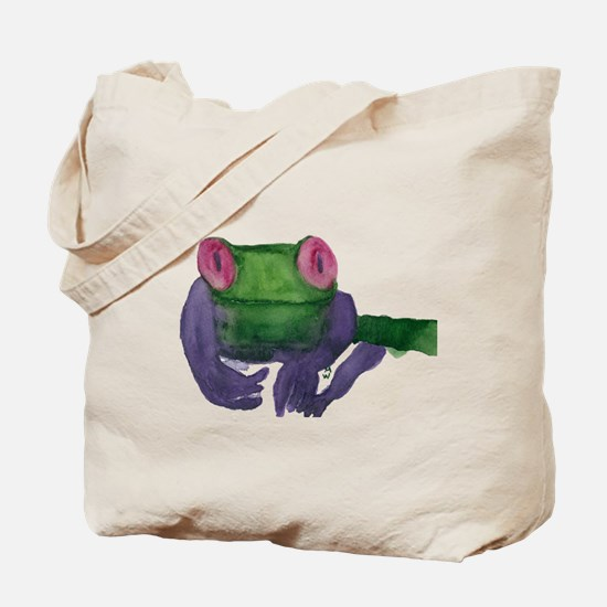 Thoughtful Frog Tote Bag