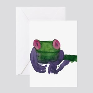 Thoughtful Frog Greeting Card