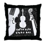 Play A Violin Throw Pillow