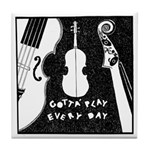 Play A Violin Tile Coaster