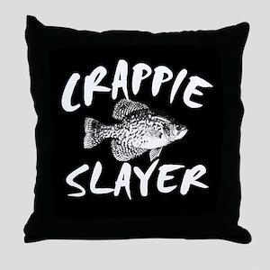 CRAPPIE SLAYER Throw Pillow