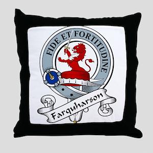 Farquharson Clan Badge Throw Pillow