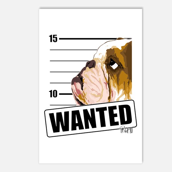 Bulldog Wanted Postcards (Package of 8)