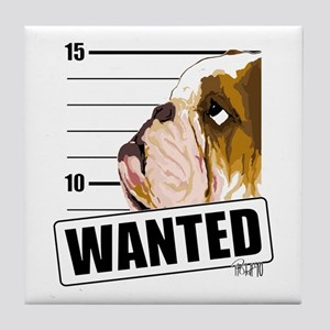 Bulldog Wanted Tile Coaster
