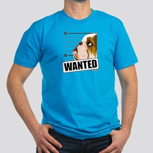 Bulldog Wanted Men's Fitted T-Shirt (dark)
