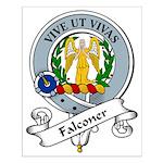 Falconer Clan Badge Small Poster