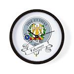 Falconer Clan Badge Wall Clock