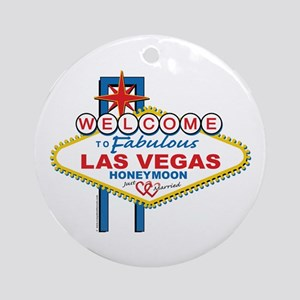 Welcome To Fabulous Las Veags Honeymoon Ornament (