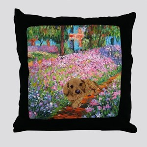 Garden Doxie Throw Pillow