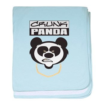 Crunk Panda™ baby blanket