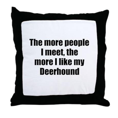 Deerhound Throw Pillow