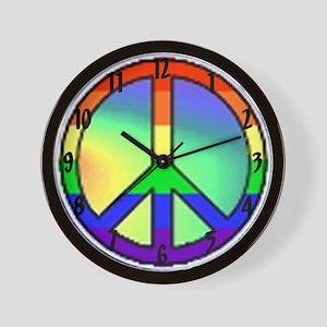 """Gay and Lesbian Pride Peace"" Wall Clock"