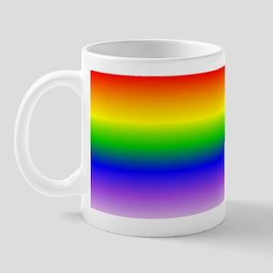 """""""Rainbow Flag (blended lines)"""" Mug"""