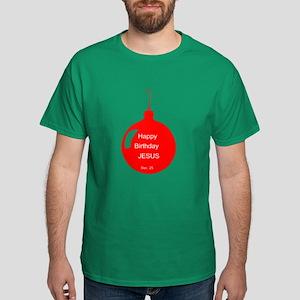 Happy Birthday Jesus (red) Dark T-Shirt