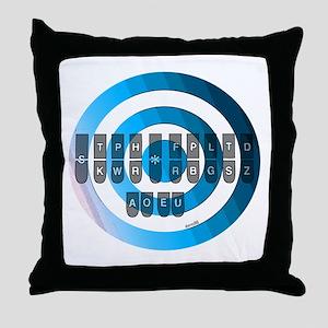 STENO KEYBOARD Throw Pillow