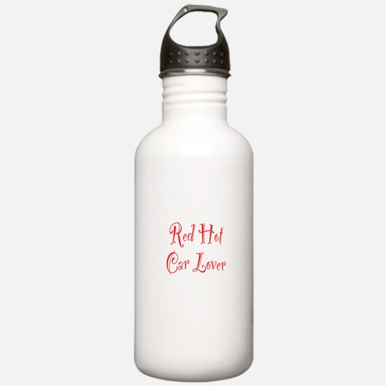 Red Hot Car Lover Water Bottle