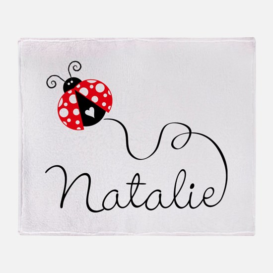 Ladybug Natalie Throw Blanket