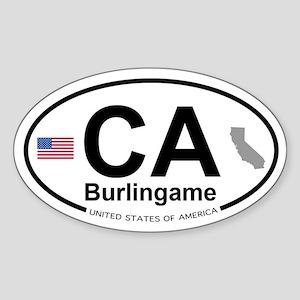 Burlingame Sticker (Oval)