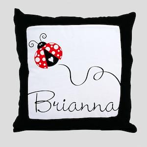 Ladybug Brianna Throw Pillow