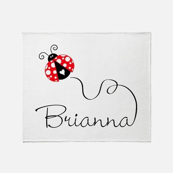 Ladybug Brianna Throw Blanket