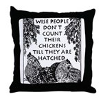 Patient People Throw Pillow