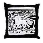 Pop Art Racehorse Throw Pillow