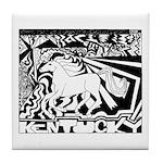 Pop Art Racehorse Tile Coaster