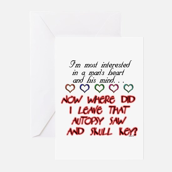 Mans Heart in progress Greeting Cards (Package of