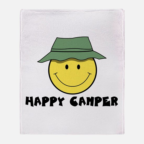 Happy Camper camping Throw Blanket