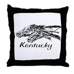 Racing Horses In KY Throw Pillow