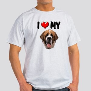 I Love My St. Bernard Light T-Shirt