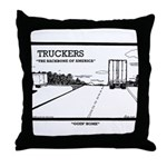 Truck Drivers Throw Pillow