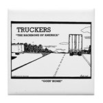 Truck Drivers Tile Coaster