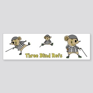Three Blind Refs Sticker (Bumper)