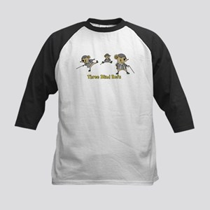 Three Blind Refs Kids Baseball Jersey