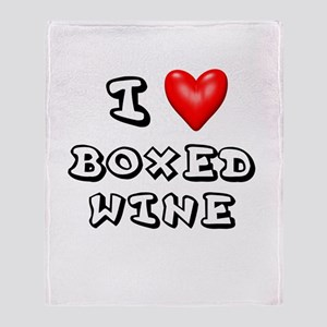 I Love Boxed Wine Shirt Throw Blanket