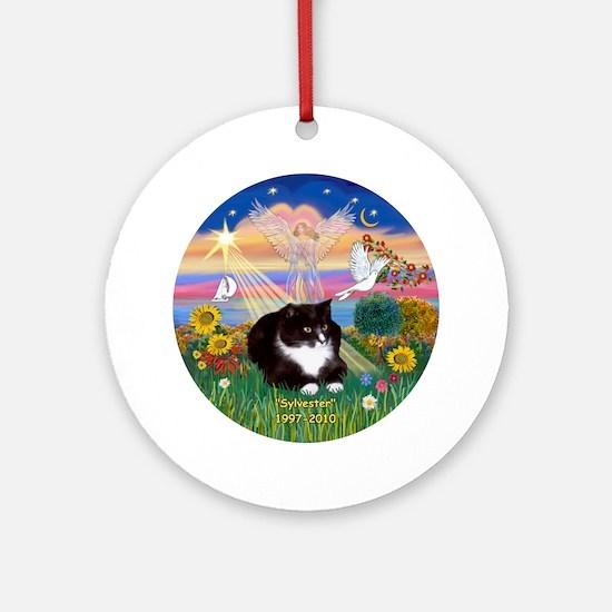 "Autumn Angel - ""Sylvester"" Ornament (Round)"