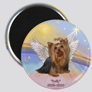 Yorkie Angel Dolly Magnet