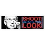Cheney Shoot Bumper Sticker