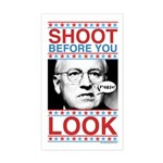 Cheney Shoot Rectangle Sticker
