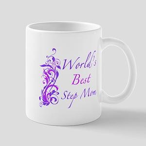 World's Best Step Mom (Floral) Mug