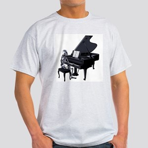 Skeleton piano player Light T-Shirt