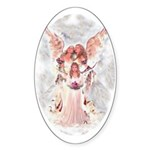 Little Angel Oval Sticker