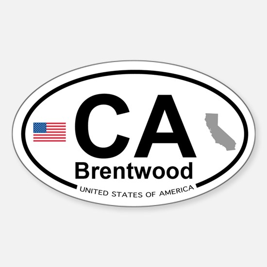 Brentwood Sticker (Oval)