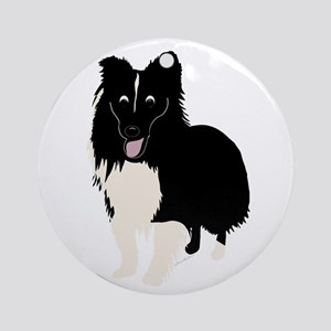 Shetland Sheepdog v4 Ornament (Round)